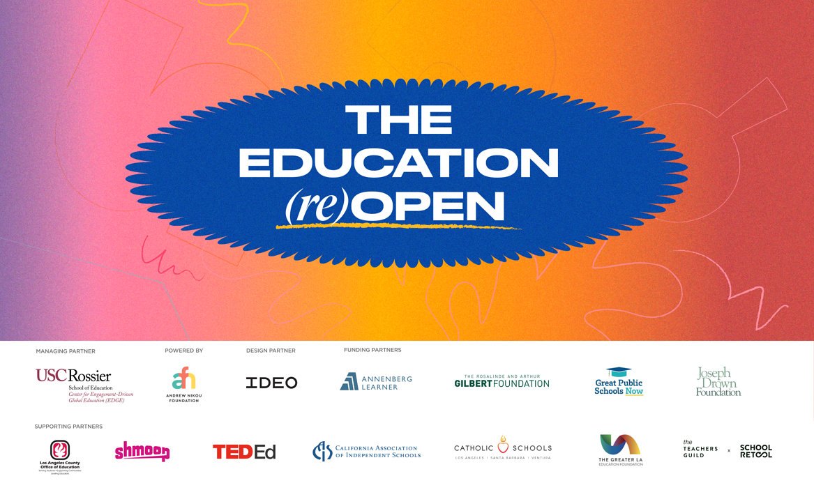 The Education (Re)Open with all partner logos